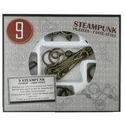 Steampunk Puzzles Set Gray Box - 9 Disentanglement Metal Puzzles