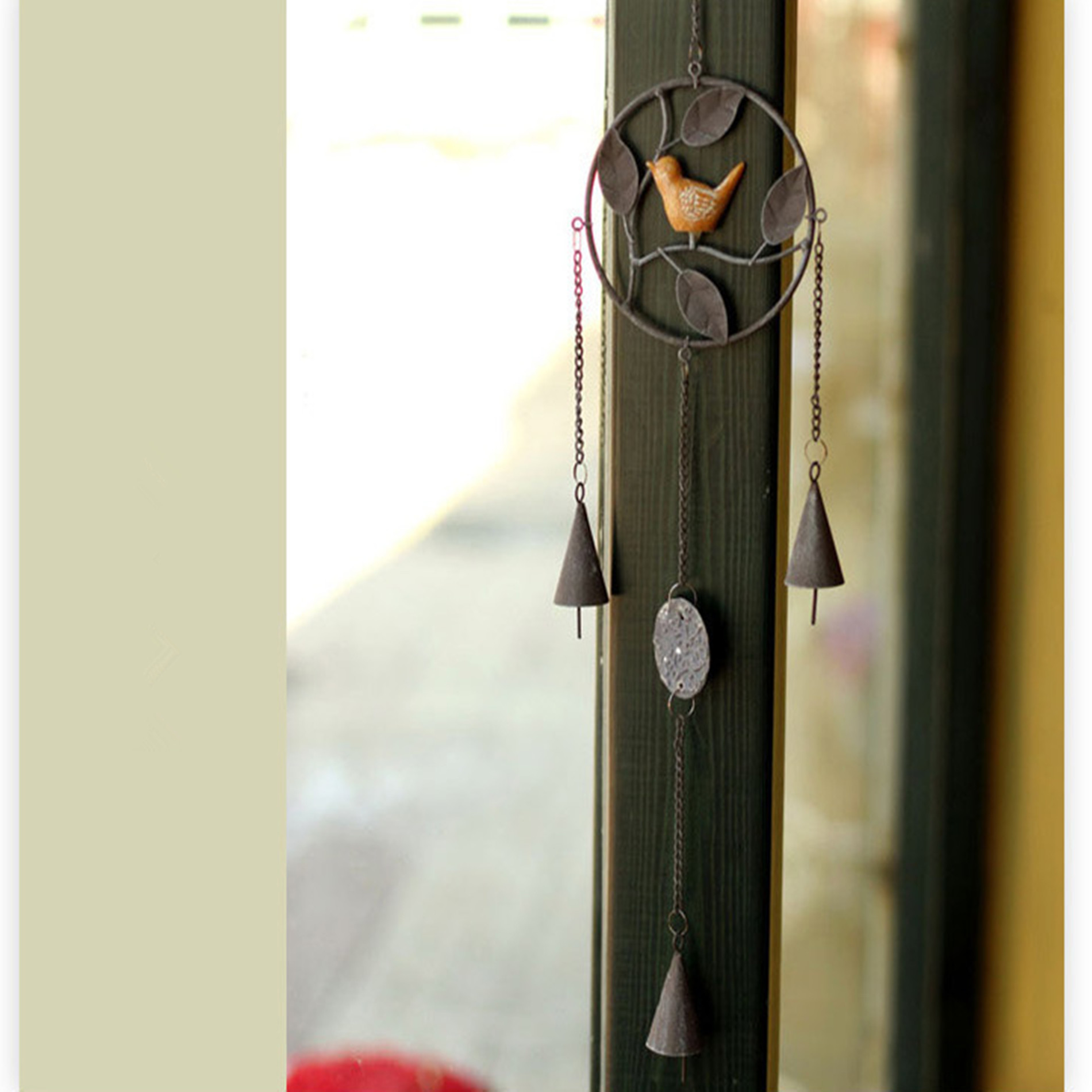 Gray Dream Catcher Wind Chimes Home Hanging Decoration Car Pendant by Unbranded