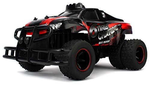 Velocity Toys 6 Tire Chariot Remote Control RC High Performance Truck, 2.4 GHz Control System, Big Scale 1:10... by Velocity Toys