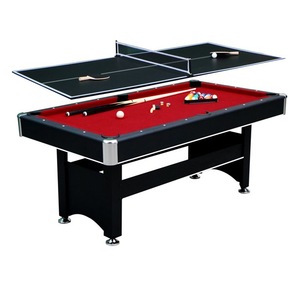 Hathaway Spartan Pool Table, 6-ft, Black/Red - Walmart.com