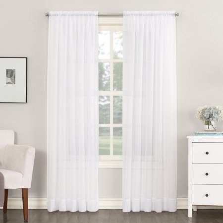 Make Rod Pocket Drapes (No. 918 Juliette Voile Sheer Rod Pocket Curtain)