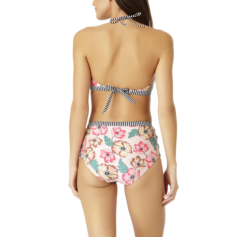 e8e742c5aa947 No Boundaries Juniors  Floral Print Keyhole Bralette   High-Waist Two-Piece  Bikini Set  Buy Together   Save - Walmart.com