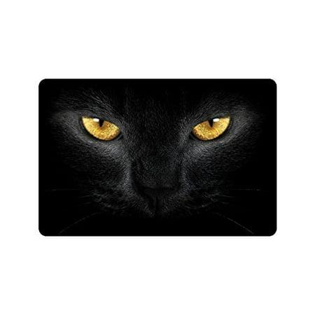 WinHome Black Cat Eyes Doormat Floor Mats Rugs Outdoors/Indoor Doormat Size 23.6x15.7 (Dior Cat Eye)
