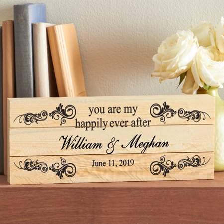 Personalized You Are My Happily Ever After Wood Plaque