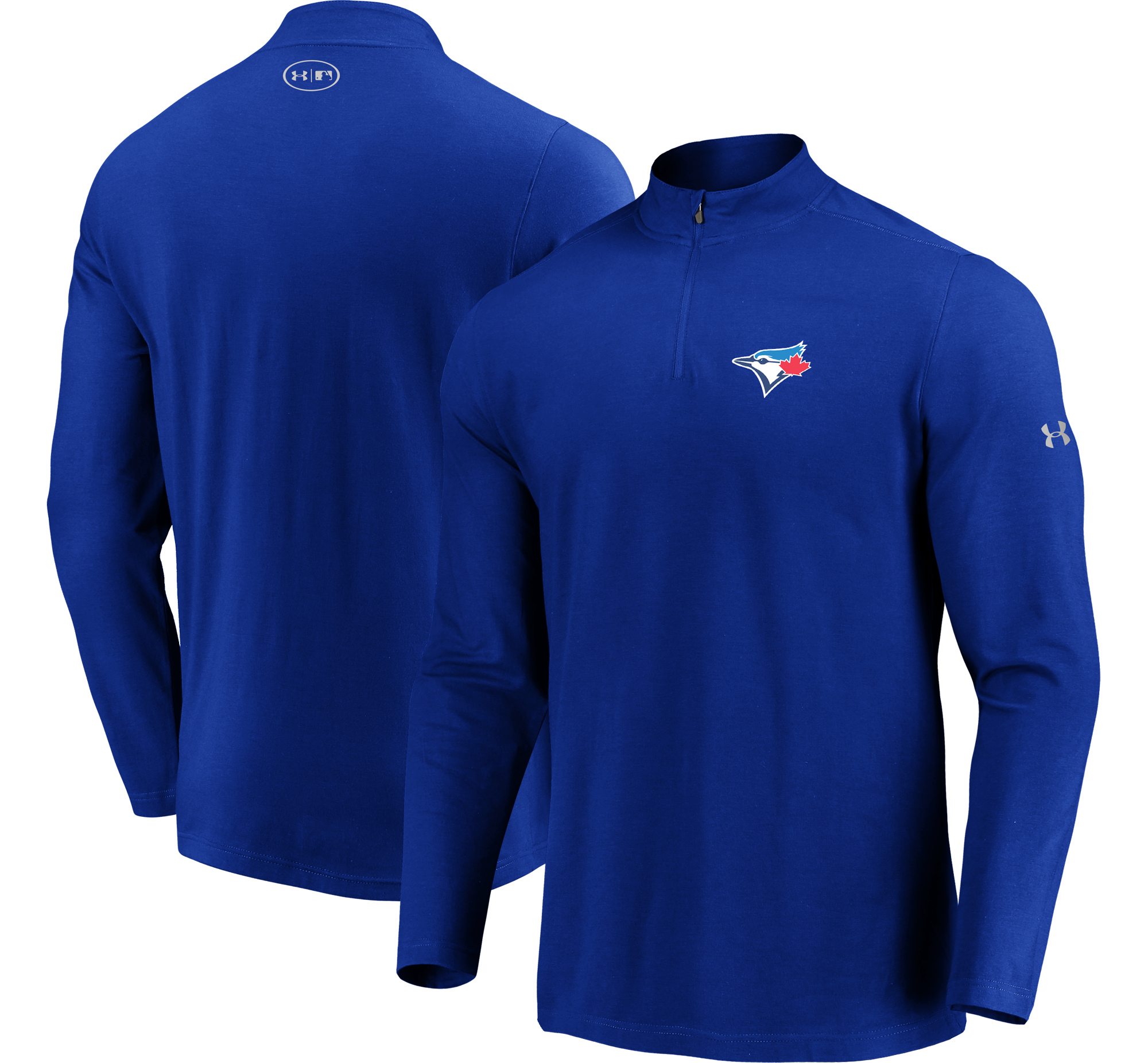 Toronto Blue Jays Under Armour Passion Performance Tri-Blend Quarter-Zip Pullover Jacket - Royal