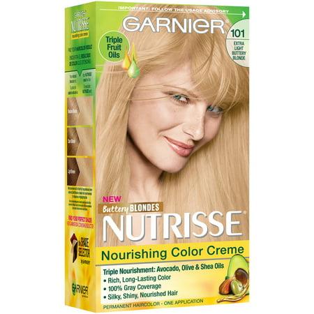 Garnier Nutrisse Nourishing Color Creme Hair Color, 101 Extra ...