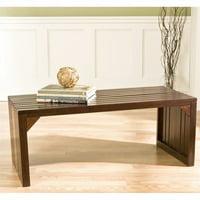 Southern Enterprises Clermont Slat Bench/Table