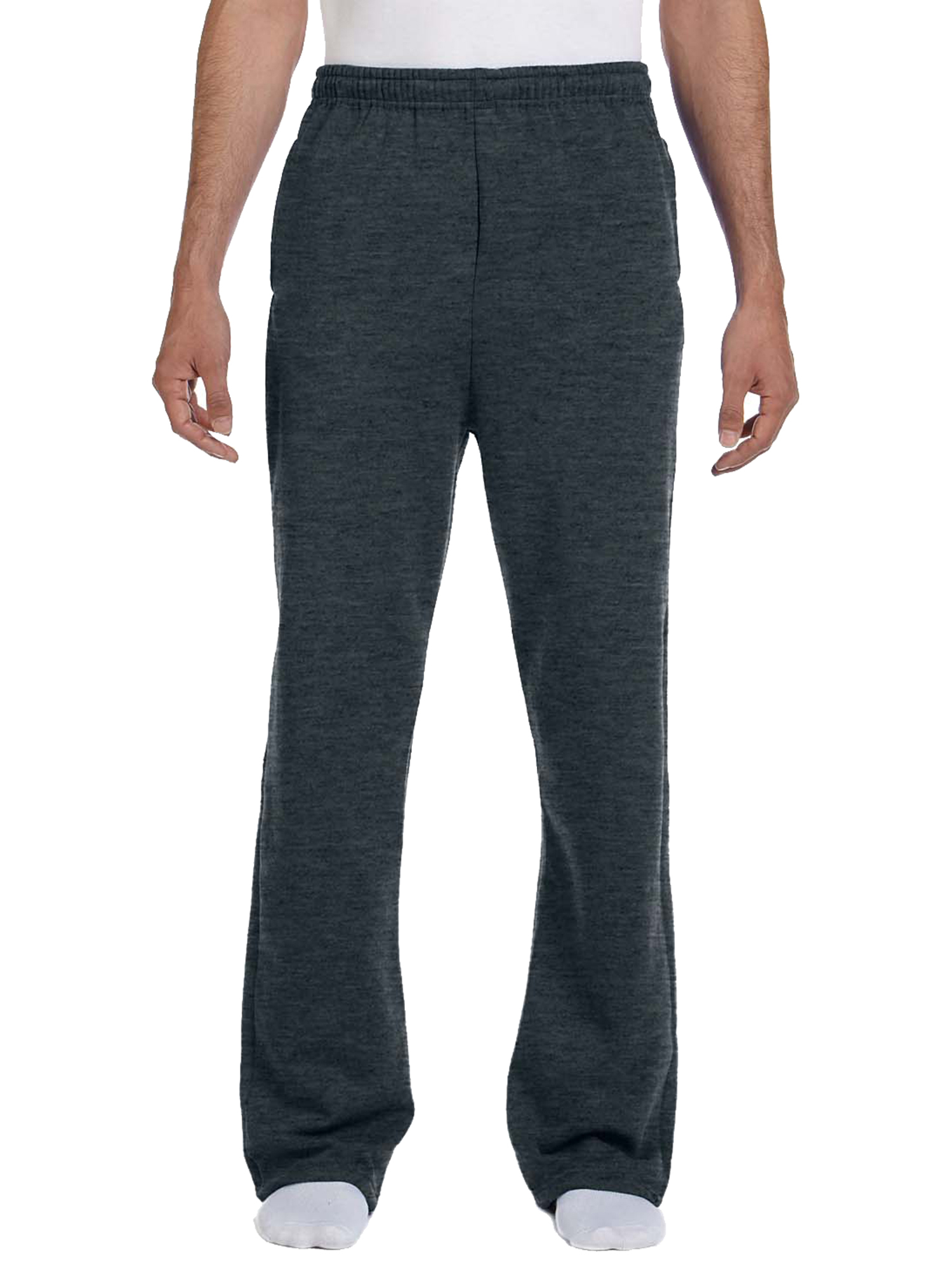 Jerzees Men's NuBlend Fleece Open-Bottom Pocket Sweatpant_S_Black Heather