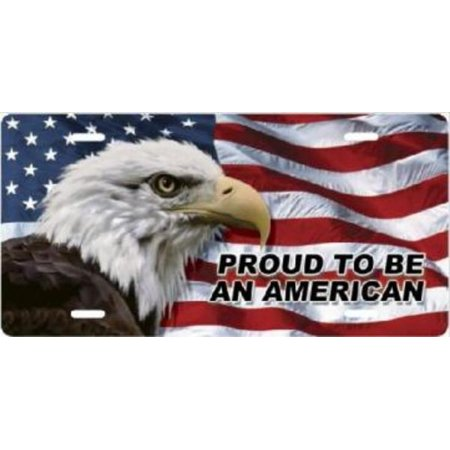 American Eagle Plate (Proud To Be An American Eagle Flag License)