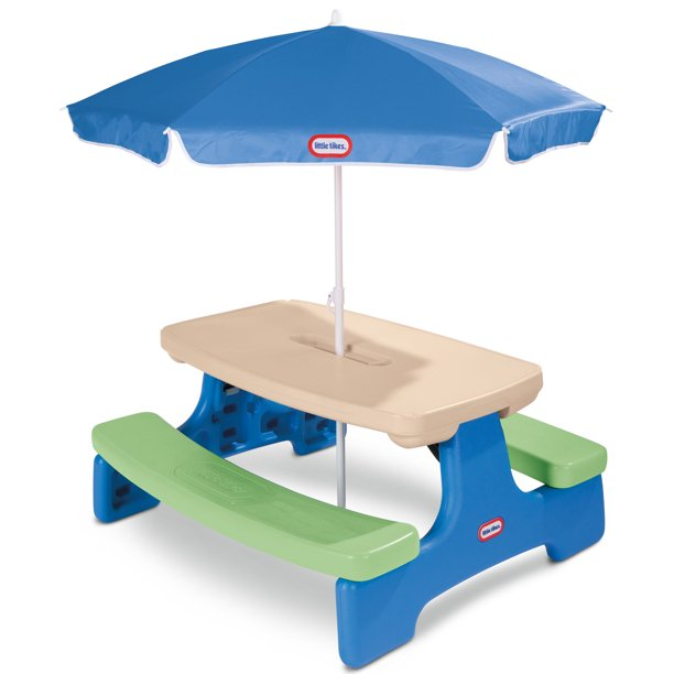 Little Tikes Easy Kids Picnic, Childrens Outdoor Furniture With Umbrella