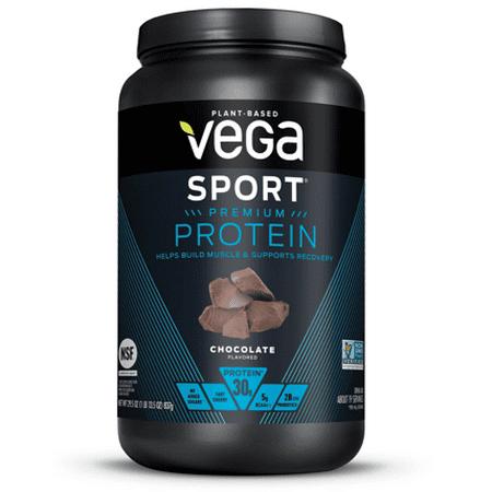 Vega Sport Premium Plant Protein Powder, Chocolate, 30g Protein, 1.8lb, 29.5oz