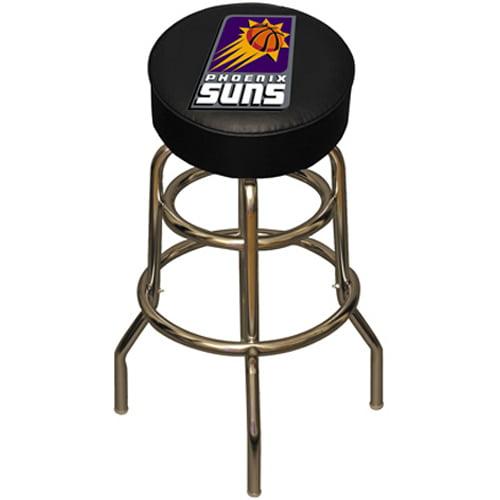 NBA Pheonix Suns Chrome Metal Bar Stool with Swivel Seat Game Room Barstool