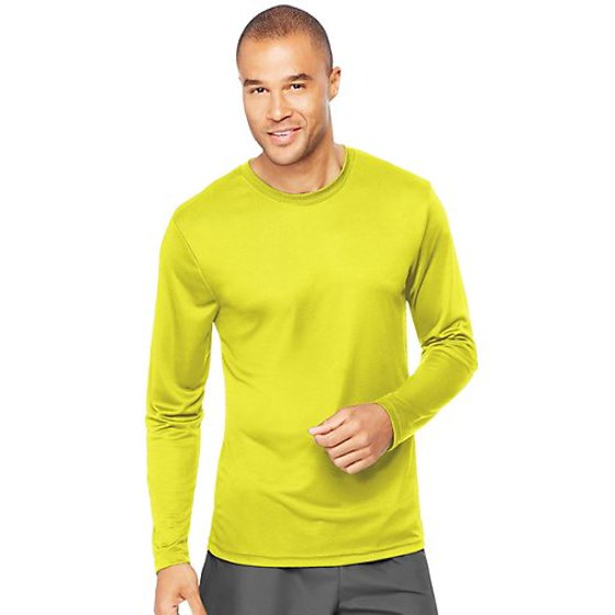 efaabb7c908bf Hanes - Sport Mens Cool DRI Performance Long Sleeve Tshirt (50+ UPF ...