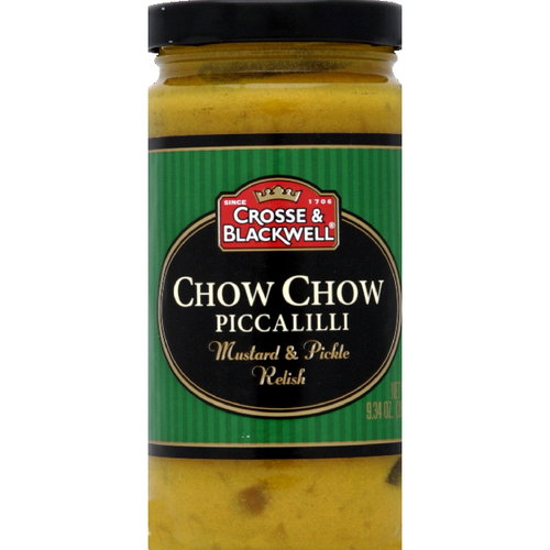 Crosse & Blackwell Chow Chow Piccalilli Mustard & Pickle Relish, 9.34 oz (Pack of 6) by Generic