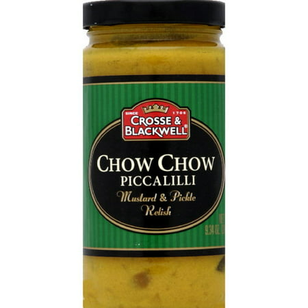 Crosse & Blackwell Chow Chow Piccalilli Mustard & Pickle Relish, 9.34 oz (Pack of 6)