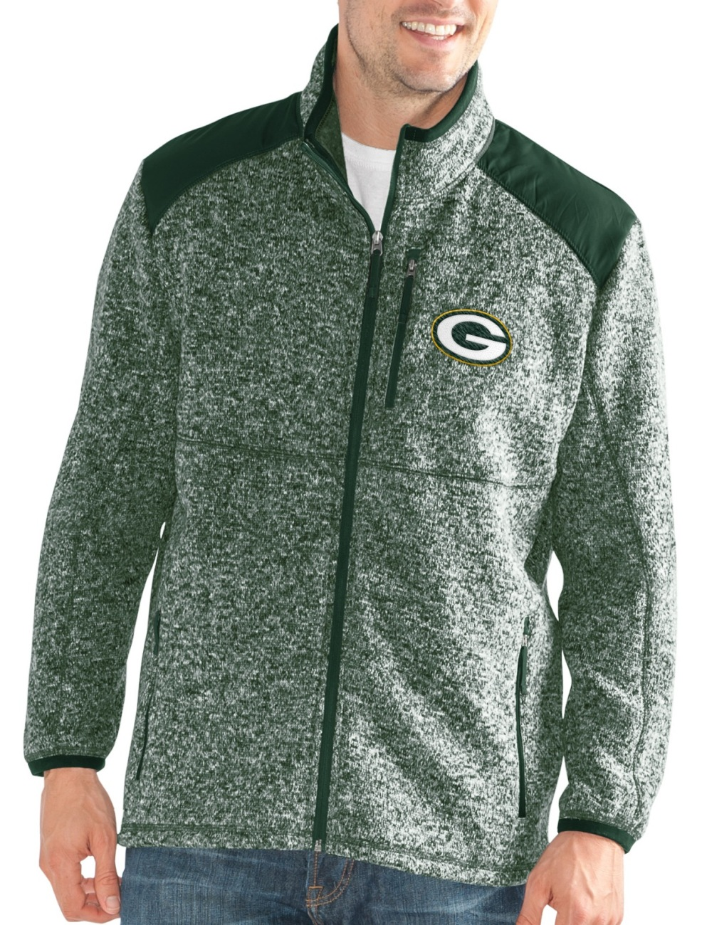 """Green Bay Packers NFL G-III """"Back Country"""" Full Zip Men's Sweater Jacket by G-III Sports"""