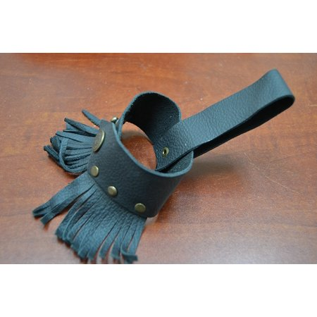Custom Made Drink Beer Bottle Black Leather Holster Belt, This drink holder easily hang on your belt. By MyGANN - Duffman Beer Belt