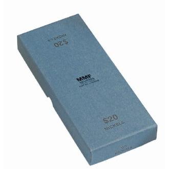 Rolled Coin Storage - Blue Chipboard Nickel Coin Roll Storage Box