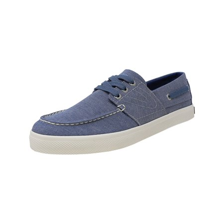 Tretorn Men's Motto Chambray Blue Ankle-High Fabric Slip-On Shoes -