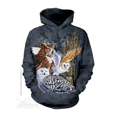 The Mountain Find 11 Owls Adult Hoodie Hooded (Crater Mountain Hoodie)