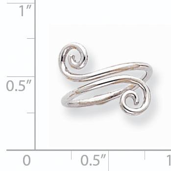14K White Gold Swirl Toe Ring - image 1 of 2