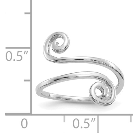 14K White Gold Swirl Toe Ring - image 1 of 2