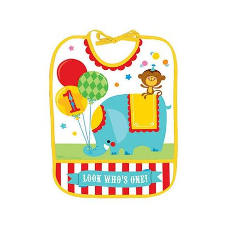 Fisher Price 1st Birthday Circus Baby Bib - Party