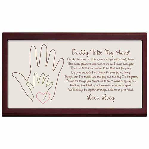 Personalized Daddy Take My Hand Keepsake Box