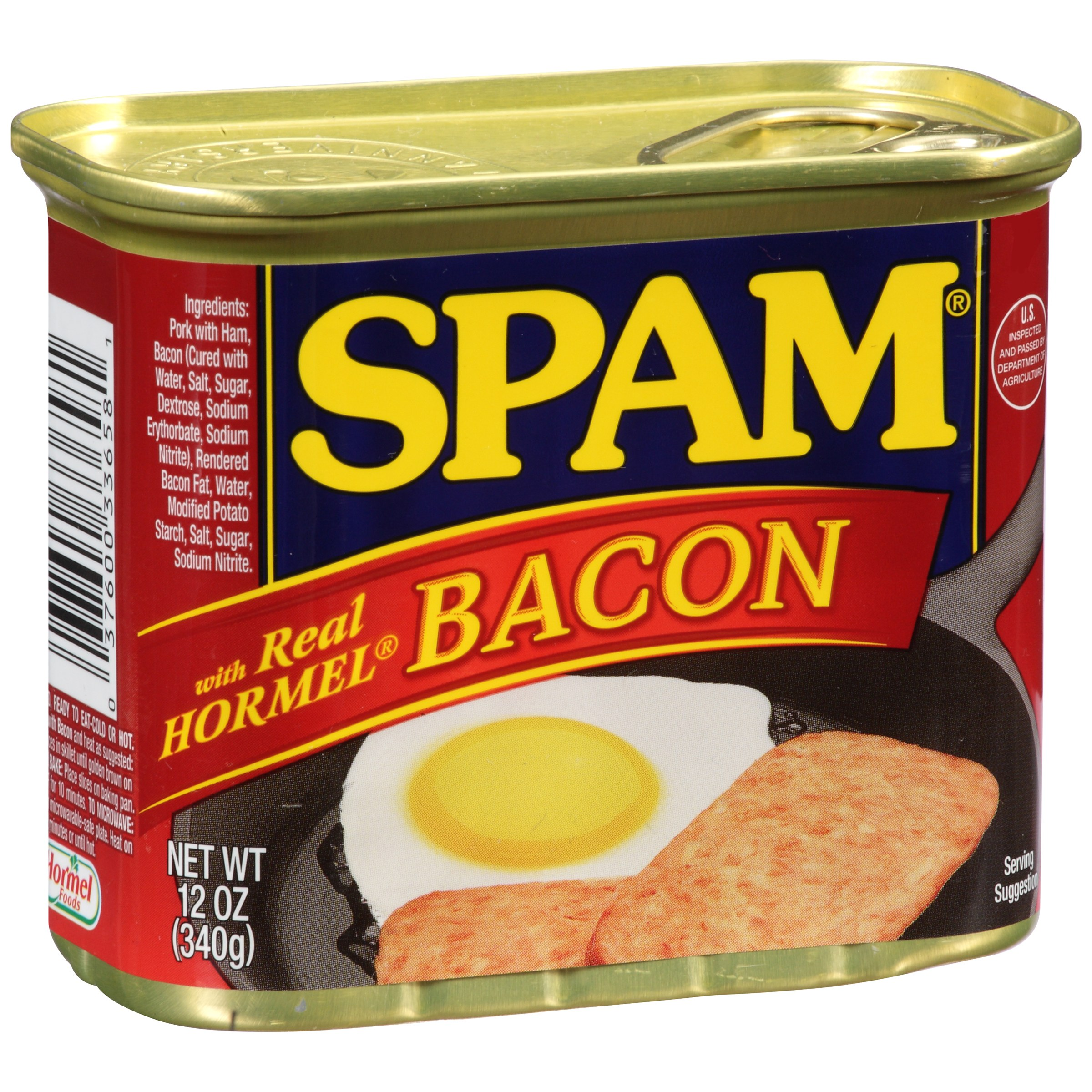 SPAM with Real HORMEL Bacon 12 oz. Can by Hormel