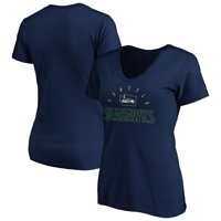 Seattle Seahawks NFL Pro Line by Fanatics Branded Women's State Pride Outline V-Neck T-Shirt - College Navy
