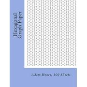 Hexagonal Graph Paper: 1.2cm Hexes, 100 Sheets
