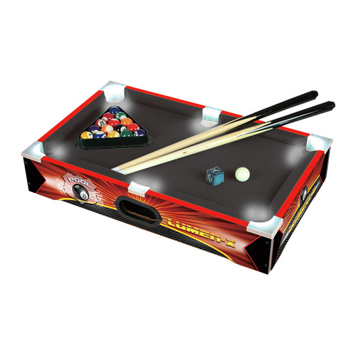 "Triumph Sports LUMEN X 20"" Table Top Billiards Mini Pool Game"