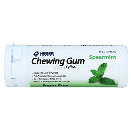 Hager Pharma Xylitol Chewing Gum Spearmint Sugar Free 30 Pieces