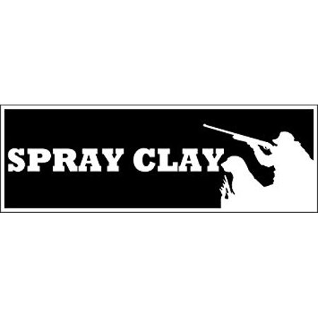 SPRAY CLAY Sticker Decal(gun shotgun shooting skeet) Size: 3 x 9 (Best Semi Auto Shotgun For Skeet Shooting)