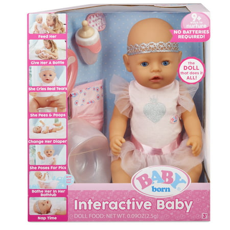 BABY born Interactive Baby Doll- Blue Eyes (Images Of Cute Babies With Blue Eyes)