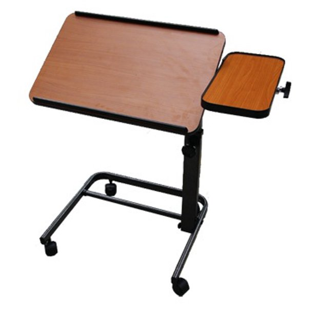 Platinum Health Acrobat Professional Overbed / Laptop Table with Side Table, Tilts & Height Adjustable