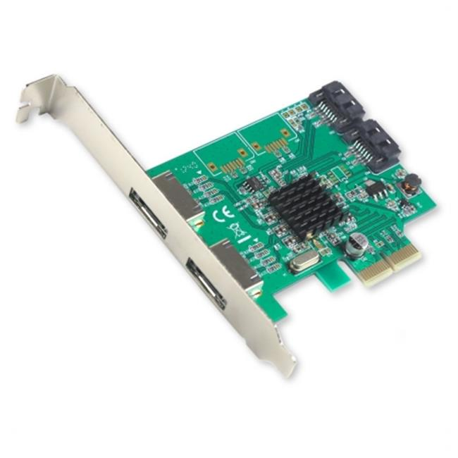PCIe x2 Interface Version 2.0  4-Port - 2x Internal  2x External - SATA 6Gbps Raid Controller CardChipset  with Low Profile Bracket  Support RAID 0 - 1 - 10 - HyperDuo