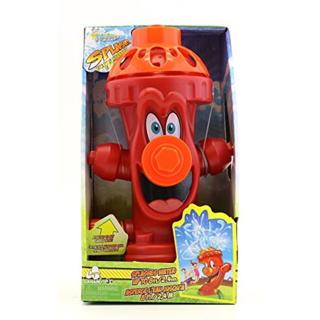 Fire Hydrant Garden Hose Sprinkler - Splash & Sprays Water 8ft Easy to Attach