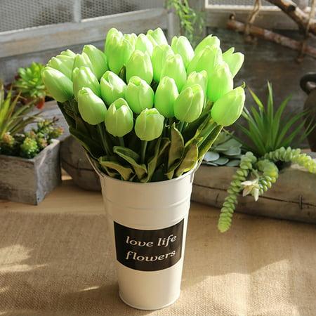 Gerbera Tulip Bouquet (Artificial Fake Flowers Tulip Bouquet Floral Wedding Bouquet Party Home Decor GN )