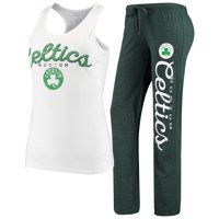 Boston Celtics Concepts Sport Women's Topic Tank Top & Pants Sleep Set - White/Kelly Green