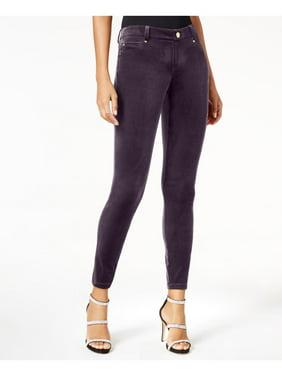 INC Womens Purple Velvet Skinny Pants  Size: 10