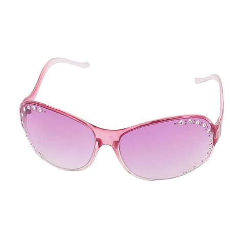 Gemstone Eyeglass (Unique Bargains Womens Rhinestone Bling Jewel Decor Sunglasses Eyeglasses Eyewear Purple)