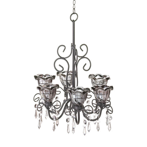 Midnight Blooms Double Chandelier by Home Locomotion