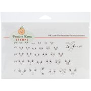 Peachy Keen Stamps Clear Face Assortment 31/Pkg-The Moodies