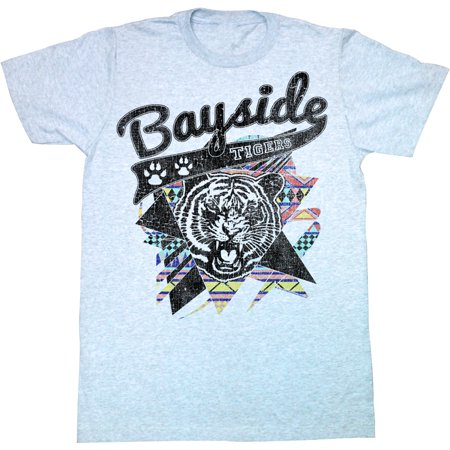 Saved By The Bell 80s Comedy Sitcom Bayside Tigers Logo Sky Blue