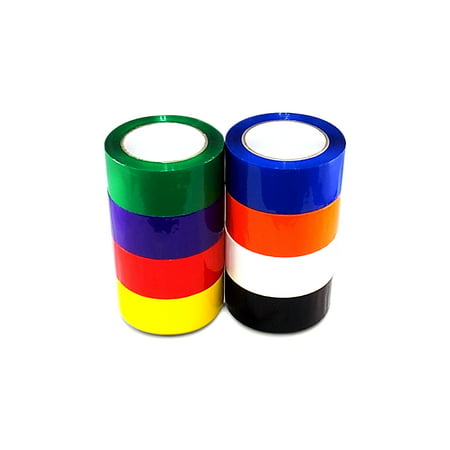 T.R.U. OPP-20C Rainbow Carton Sealing Packaging Tape 2 in. wide x 55 yds. (2 mils thick)
