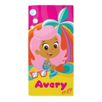 "Personalized Bubble Guppies Molly Microfiber 58""W x 28""H Beach Towel"