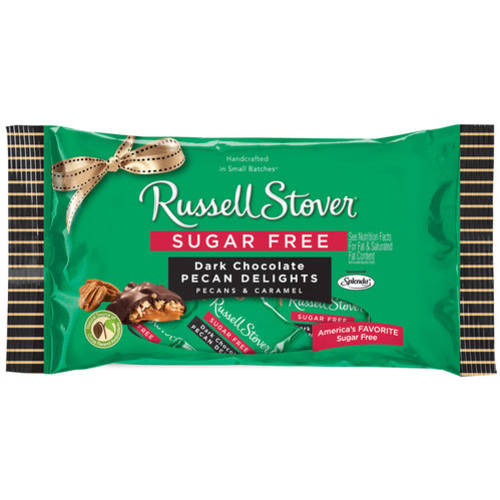 Russell Stover Sugar Free Dark Chocolate Pecan Delights, 10 oz