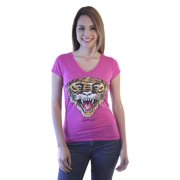 Ed Hardy Tiger Women's Pink T-shirt NEW Sizes S-L