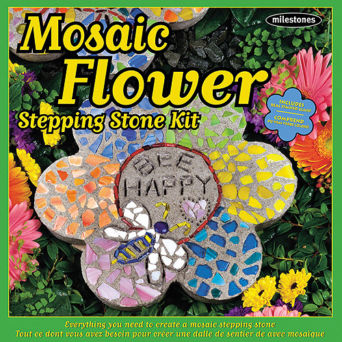 Milestones Mosaic Flower Stepping-Stone Kit